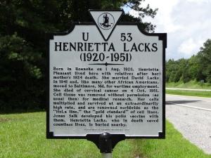 Henrietta_Lacks_historical_marker;_Clover,_VA;_2013-07-14